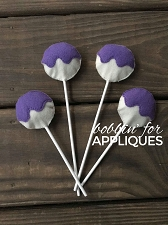 Felt Play Food Frosted Cake Pop ITH Project